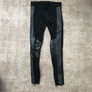 CAbi black leggings with faux leather